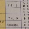 高校2年7月 進研模試総合学力テスト結果